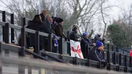 The travelling Lowestoft Town fans saw an important win at Tooting & Mitcham. Picture: Shirley D Whi