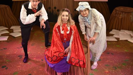 My First Panto at The Garage, Little Red Riding Hood: Oli Grant, Lisa Wright and Joanna Brown. Byli