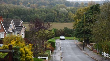 View from the top of Farmland Road in Costessey across the Tud Valley. Picture: James Bass