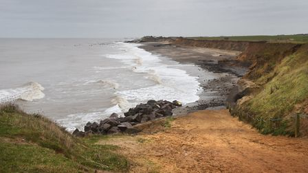 Happisburgh beach, where the proposed windfarm cables could be placed.Picture: ANTONY KELLY