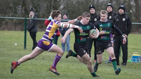 Dan Smith shows a neat turn off pace as North Walsham dominate at Saffron Walden. Picture: Hywel Jon