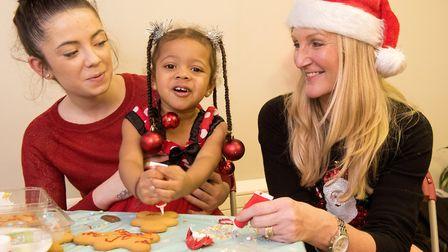 Family nurse partnership team member Cheryl Hale with Chloe Church and her daughter Taliah.Picture: