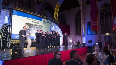 Eastern Daily Press Stars of Norfolk and Waveney Awards ceremony 2017 at St Andrews Hall, Norwich.T