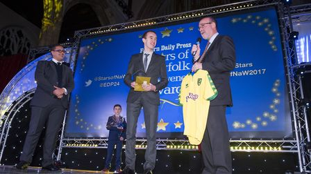 Eastern Daily Press Stars of Norfolk and Waveney Awards ceremony 2017 at St Andrews Hall, Norwich.N