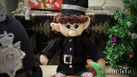Norfolk Police have welcomed Bobby the Elf to the constabulary this Christmas. Picture: Norfolk Poli