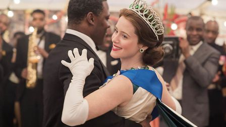 The scene in the Crown with The Queen (Claire Foy) dancing with the ghana president Kwame Nkrumah.