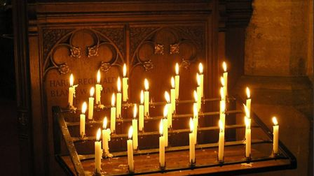 Lots of candles were lit at Downham Market St Edmunds on Sunday 10th December for the Light up a Lif