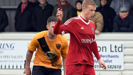 Michael Frew scored a hat-trick for Wisbech Town at Cogenhoe United . Picture: Ian Carter
