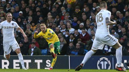 Alex Pritchard hit the bar in the second half at Elland Road . Picture: Paul Chesterton/Focus Images