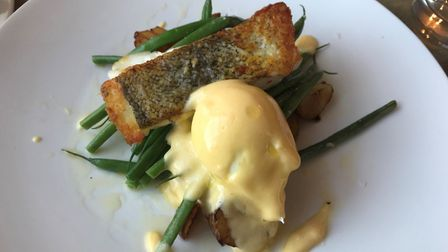 Catch of the day, poached egg and hollandaise sauce at The Boarding House Dining Rooms. PICTURE: Arc