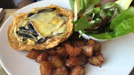 The daily frittata at The Boarding House Dining Rooms. PICTURE: Archant