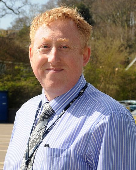 Cromer Junior School celebrate their outstanding Ofsted report. Deputy head Whil de Neve. PHOTO: AN