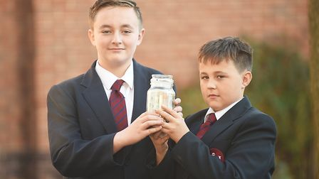 King Edward VII Academy students have been raising money for brothers Alex, 13, left, and Thomas, 12