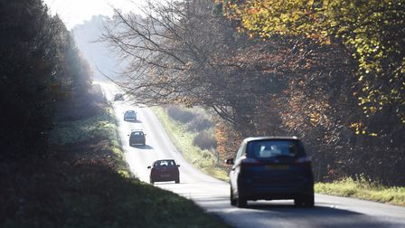 A airman from RAF Lakenheath died after a collision of n the B1106 near Elveden. Picture: ARCHANT