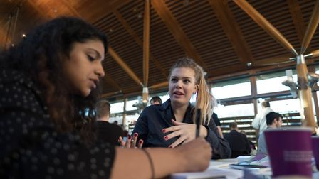 Teams competing to build a start-up in just 54 hours at Sync the City. Picture: Tim Stephenson Photo