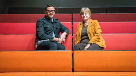 Stephen Crocker, chief executive of Norwich Theatre Royal, and Margaret Dewsbury, chairman of Norfol
