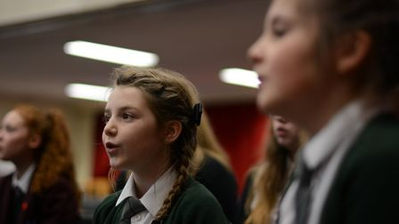 The Wensum Trust's first Christmas singing day. Picture: Wensum Trust