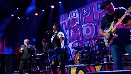 Happy Mondays took to the stage as part of their 25 greatest hits gigs. Picture: Steve Hunt