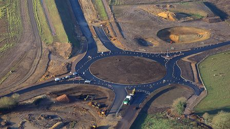 The Norwich Northern Distributor Road (NDR) takes shape. Pic: Mike Page.