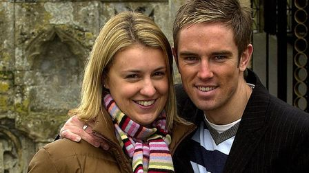 Gemma and Simon Thomas pictured at Dereham St Nicholas Church in 2004. Picture: Adrian Judd.