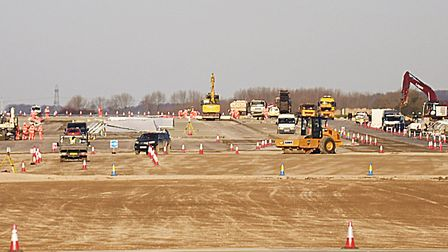 Progress of the infrastructure works at RAF Marham, in preparation for the arrival of the F-35B Ligh