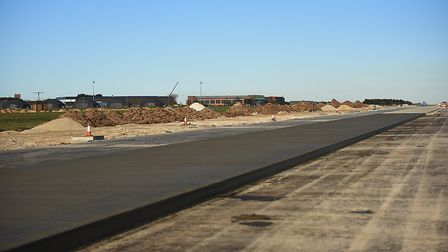 The construction of the second runway at RAF Marham. Picture: Ian Burt