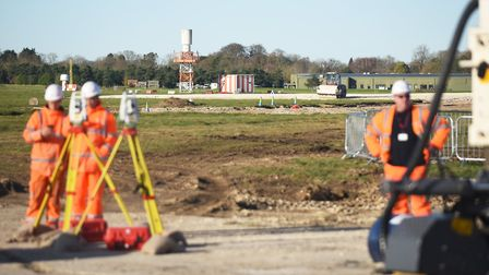 The second runway at RAF Marham is under construction. Picture: Ian Burt