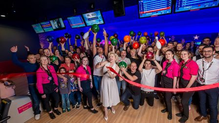 Hollywood Bowl, located on Riverside, held an American-themed relaunch event on Thursday, with �Mari