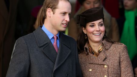 The Duke and Duchess of Cambridge as they leaves St Mary Magdalene Church on the Sandringham estate