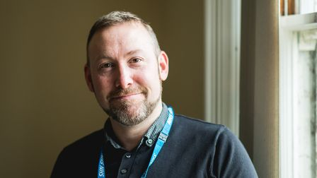 Justin Cork, a community mental health nurse in the Norfolk and Suffolk NHS Foundation Trust (NSFT)