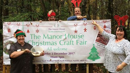 The Manor House Christmas fair. Manager, Paula Pawsey, is pictured far right. Picture: Peppa Sherida