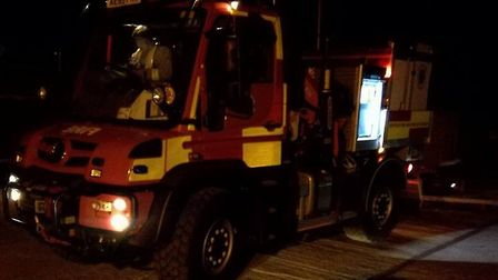 Emergency services rescued two men suffering from hypothermia after the boat they were aboard broke