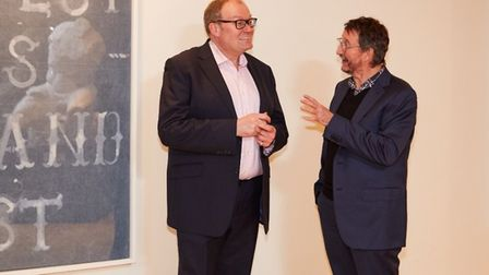 Darren Henley, CEO of Arts Council England with Professor John Last of the Norwich University of the