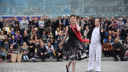 Total Ensemble Theatre Company performing at the 2017 Norfolk and Norwich Festival. Picture : ANTONY