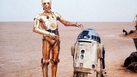 Twentieth Century Fox undated handout photo of a scene from the film Star Wars showing C3PO and R2D2