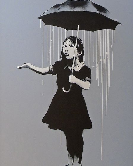 Underdog Gallery is among those exhibiting at Art Fair East 2017. Pictured is a work by Banksy, one