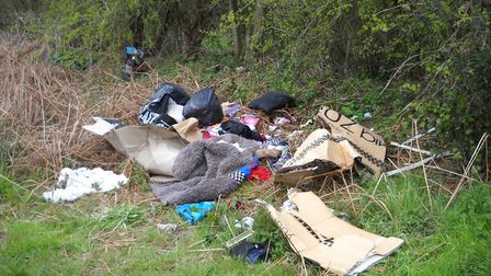 Waste fly-tipped by Mr Jonas . Picture: NNDC