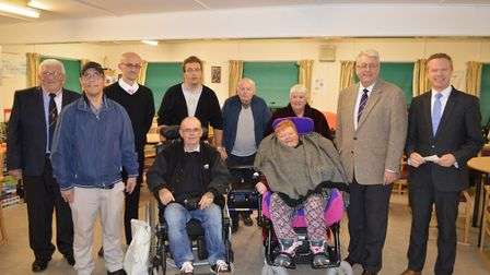 Centre 81 members with representatives of the East Norfolk Lodge including former Worshipful Master