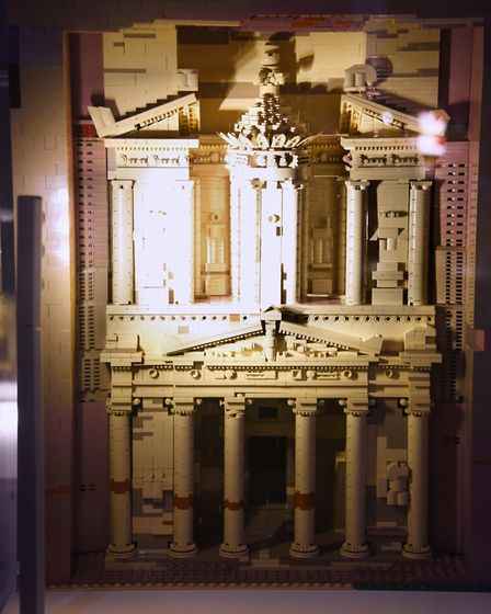Petra, made from 6800 lego bricks, at the Brick Wonders exhibition at the Forum. Picture: DENISE BRA