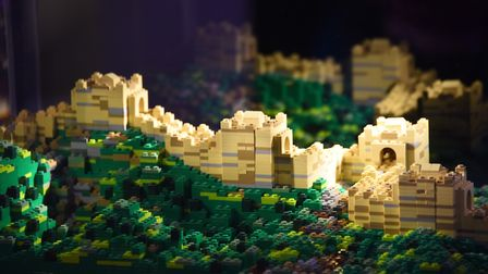 The Great Wall of China at the Brick Wonders exhibition at the Forum. Picture: DENISE BRADLEY