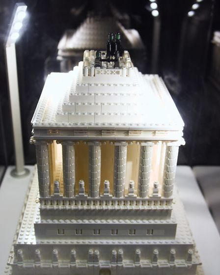 One of the Seven Wonders of the World, the Mausoleum of Halicarnassus, made from 1100 lego bricks, a