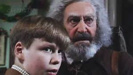 The Box of Delights - the Wolves are running, Cole Hawlings tells a young Kay Harker (c) BBC