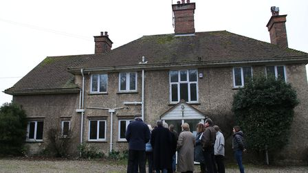 Councillors visiting the rectory earlier this year as part of a site visit. Picture: ALLY McGILVRAY