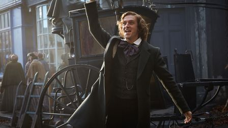 Dan Stevens as Charles Dickens in The Man Who Invented Christmas. Photo: Thunderbird Releasing/Garla