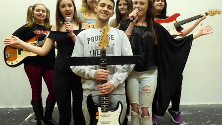 Students at East Coast College promote the search for young talent to take part in a new youth produ