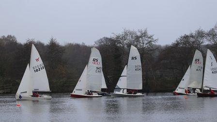 Action from the Winter Regatta held at Rollesby Broad Sailing Club. Picture: Kevin Davidson