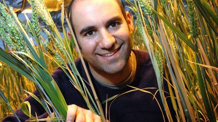 Wheat scientist Dr Cristobal Uauy at the John Innes Centre in Norwich. Picture: Adrian Judd.