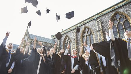 Students graduating from Norwich University of the Arts (NUA) in 2016. Picture: NUA