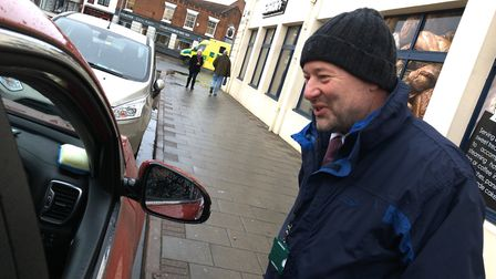 A street side questioning of a driver with a Blue Badge. Picture: Archant
