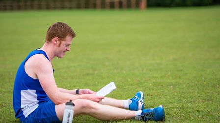Mark Armstrong gets to grips with his training programme. Picture: Alison Armstrong Photography